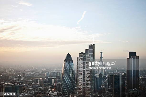 looking south over london city - day stock pictures, royalty-free photos & images