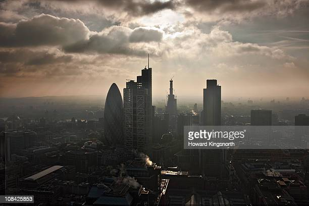 looking South over the City of London