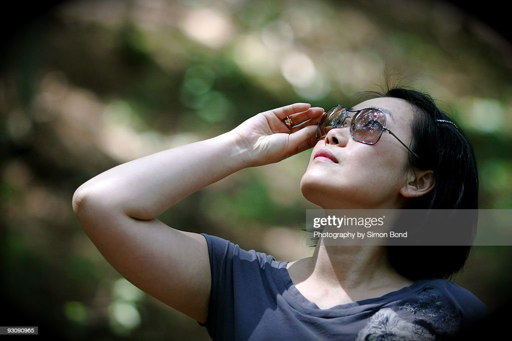 Looking sun : Stock Photo
