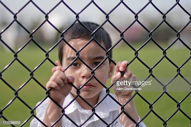 Looking through fence
