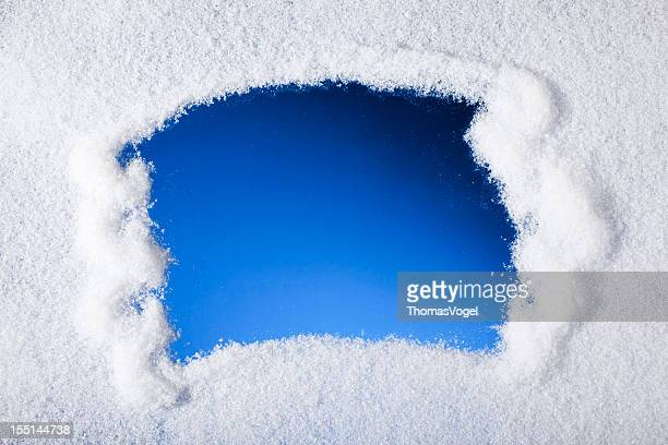 looking through frozen window - frost stock pictures, royalty-free photos & images