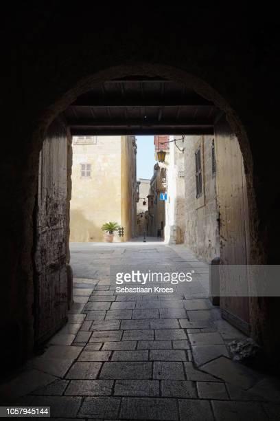 Looking through the Greek Gate, at Dusk, Mdina, Malta