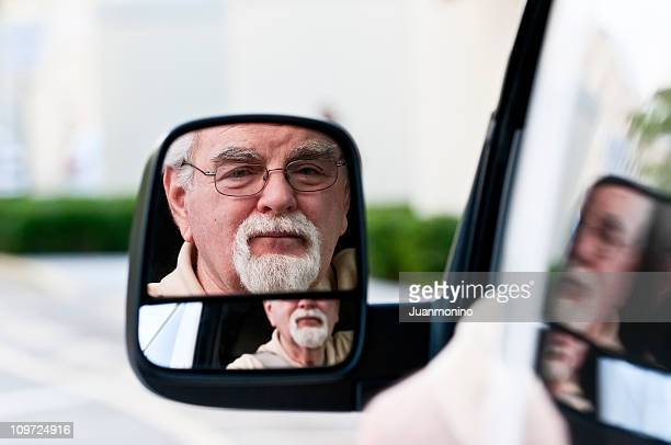 Looking through the rear mirror