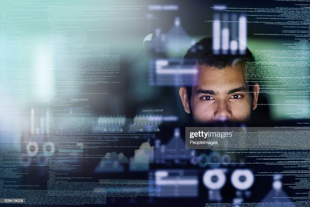 Looking through the source code : Stock Photo