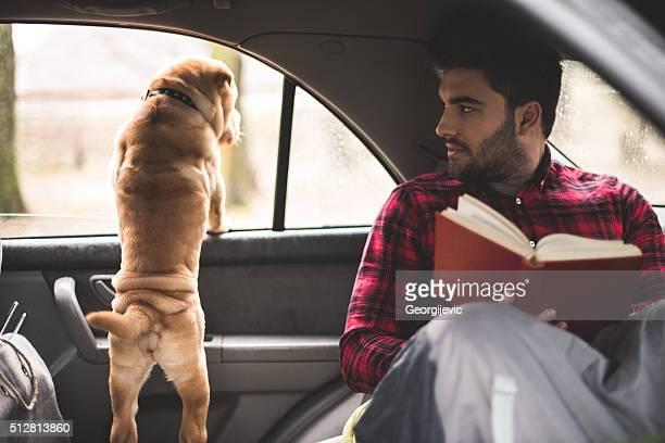Looking through window