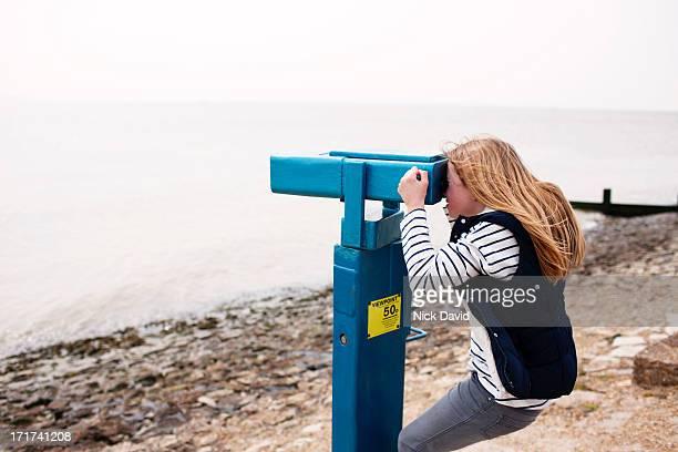 looking through viewpoint binoculars