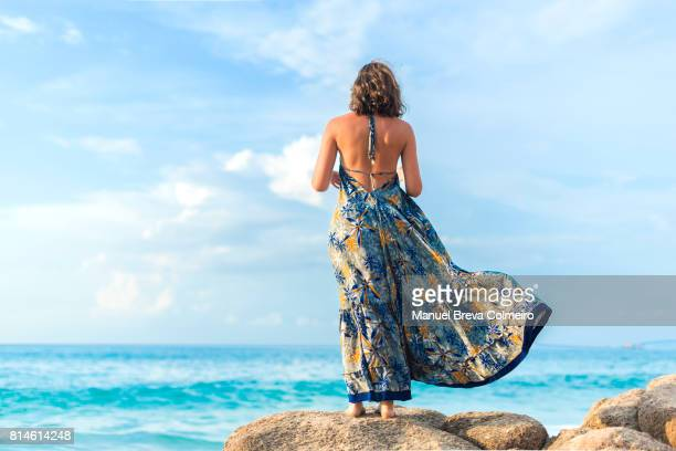 looking to infinity - sleeveless dress stock pictures, royalty-free photos & images