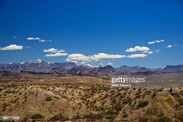 looking to the chisos mountains - chisos mountains stock pictures, royalty-free photos & images