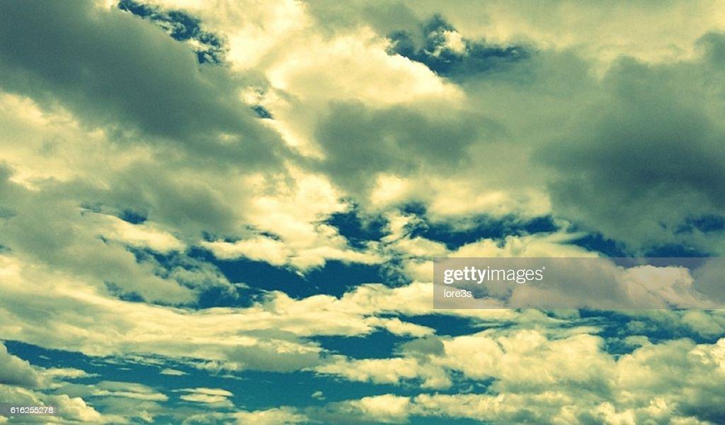 Mirando al cielo : Foto de stock