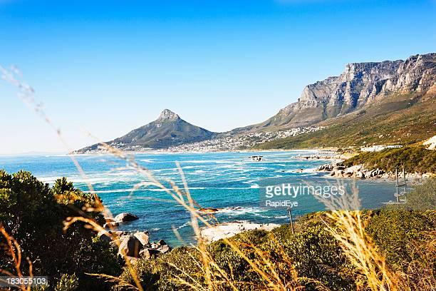 Blick Richtung Löwen Kopf und Cape Town, auf den Atlantischen Ozean