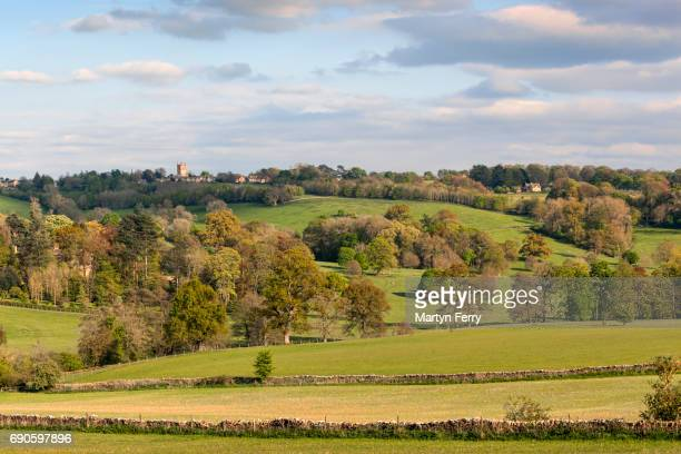 looking towards stow, the cotswolds, gloucestershire, uk - stow on the wold stock pictures, royalty-free photos & images