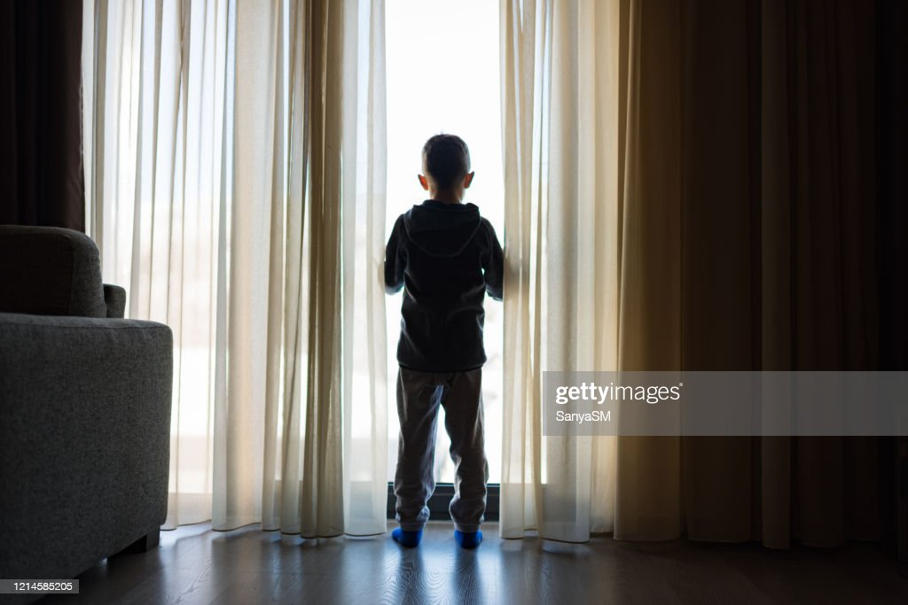Looking trough the window : Stock Photo