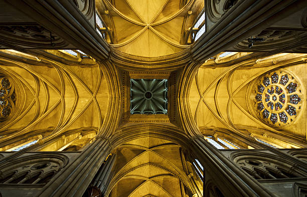 Looking Up At A Cathedral Ceiling