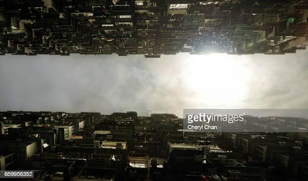 Looking Up at Concrete Jungle, Hong Kong