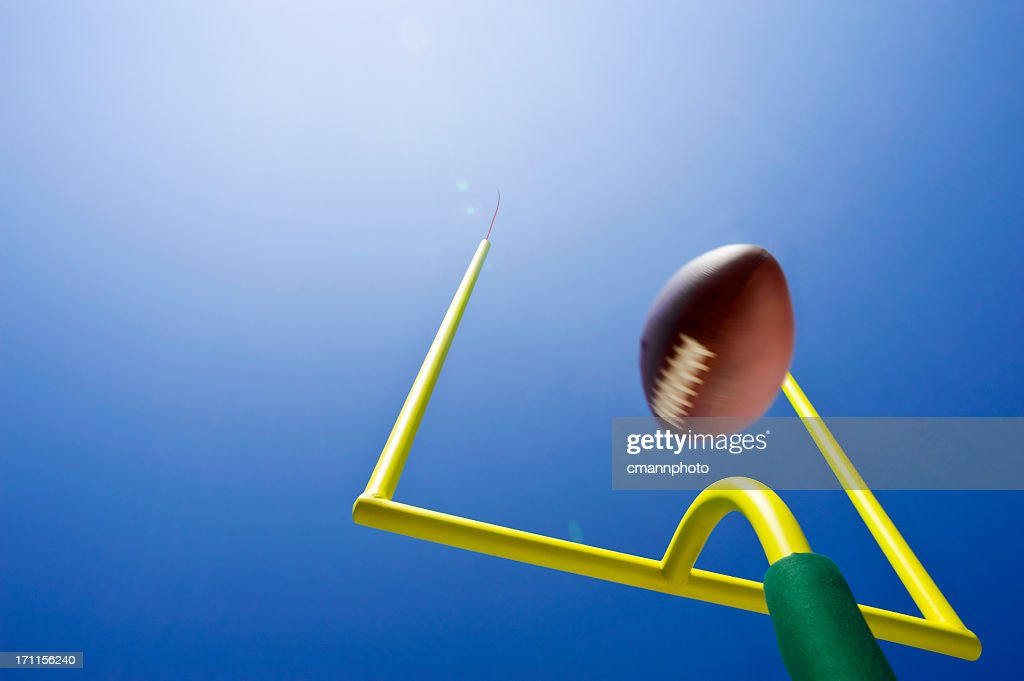 Looking up at Field Goal - American Football : Stock Photo