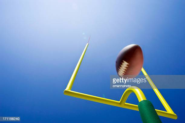 looking up at field goal - american football - goal sports equipment stock pictures, royalty-free photos & images