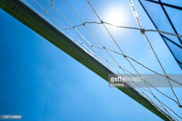 looking up at field goal - end zone stock pictures, royalty-free photos & images