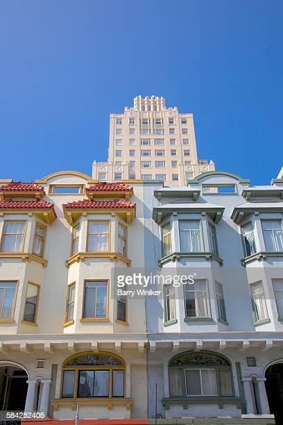 Looking up at painted homes, San Francisco