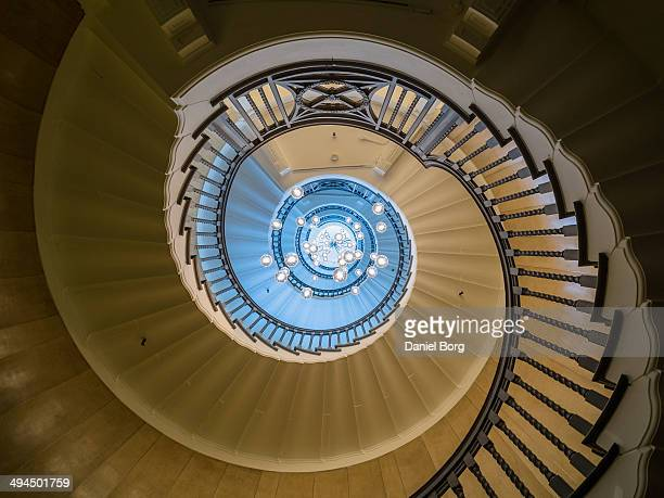 CONTENT] Looking up at the newly refurnished Heals department store staircase on Tottenham Court Road in London this wonderful staircase now boasts a...
