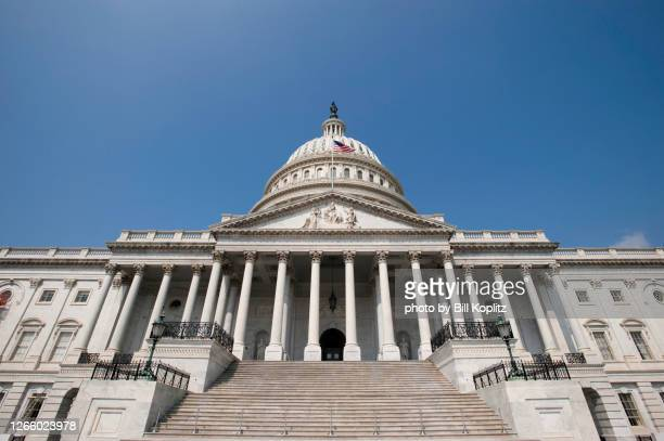 looking up at the us capital - congress stock pictures, royalty-free photos & images