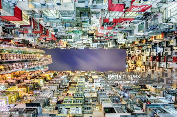 Looking up from the bottom of a metropolis