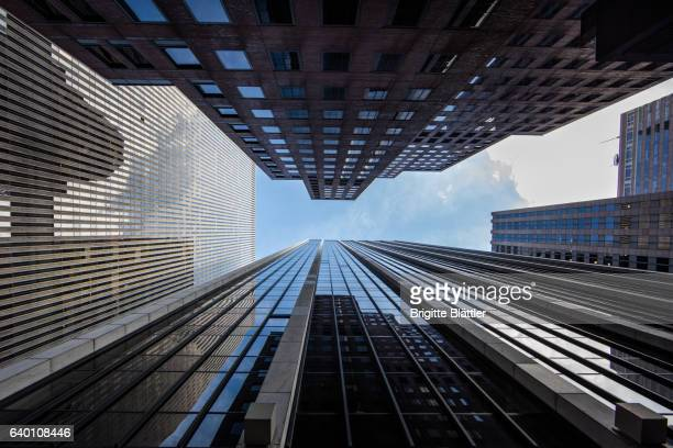 Looking up in New York