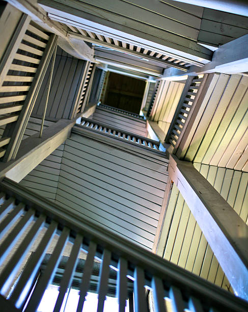 Looking up stairwell