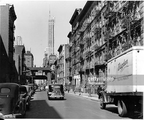 Looking West on E 50th Street, Midtown, New York City, New York, circa 1939.