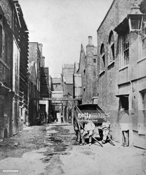 Looking west on Fore Street Lambeth London circa 1870