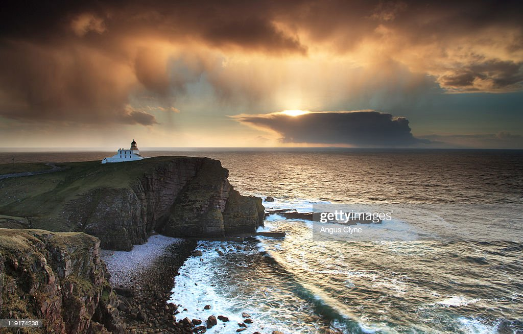 Looking West Over  Minch Point Stoer Scotland : Stock Photo