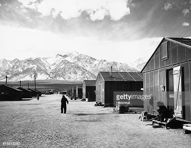 Looking west toward the mountains around the Manzanar Relocation Center for JapaneseAmericans in California during World War II