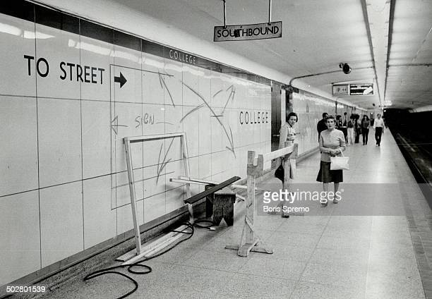 Looking Yonger every day The 28yearold Yonge St subway is getting a facelift At selected stations such as College top the dull green tiles and worn...