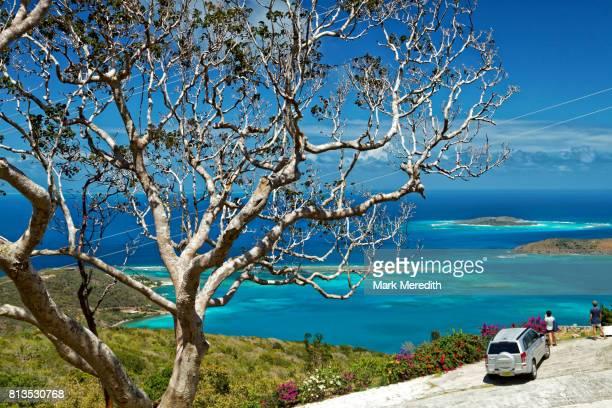 lookout at gorda peak national park - islas de virgin gorda fotografías e imágenes de stock