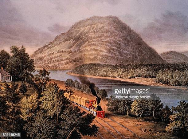 Lookout mountain tennessee stock photos and pictures getty images lookout mountain tennessee and chattanooga railroad lithograph currier ives 1866 sciox Gallery