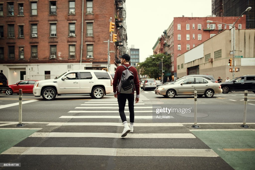 Looks like it's all clear to walk : Stock Photo