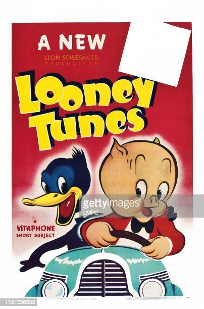 Daffy Duck Porky Pig on stock poster 1940