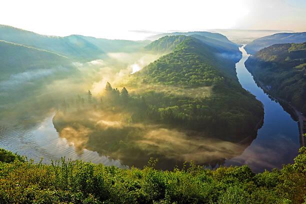 Loop of River Saar, Mettlach, Germany