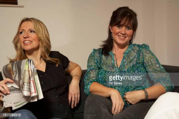 Loose Women. Coleen Nolan and Jackie Brambles in green room on June 21, 2008.