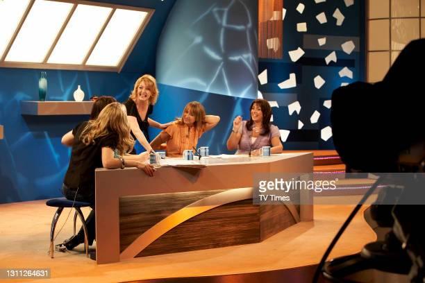 Loose Women panelists Jackie Brambles, Coleen Nolan, Charlie Hardwick, Carol McGiffin and Jane McDonald on set, on June 3, 2008.