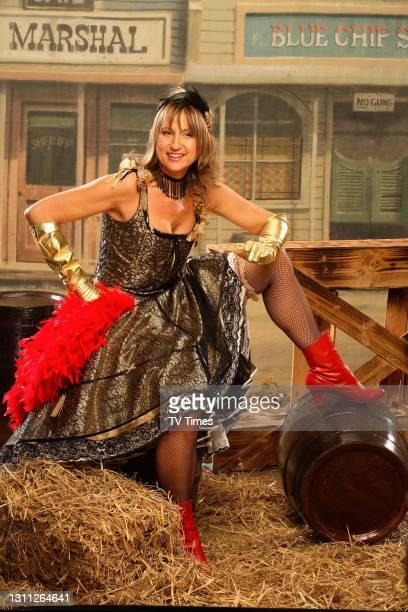 Loose Women presenter Carol McGiffin dressed as a Wild West saloon madam, on March 14, 2006.