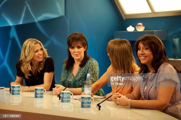 Loose Women presenters Jackie Brambles, Coleen Nolan, Jane McDonald and Carol McGiffin on set, on June 3, 2008.