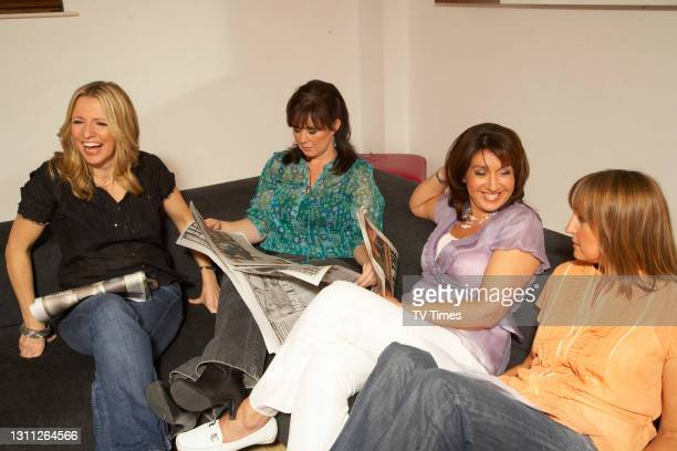 Loose Women presenters Jackie Brambles, Coleen Nolan, Jane McDonald and Carol McGiffin photographed in the green room, on June 3, 2008.
