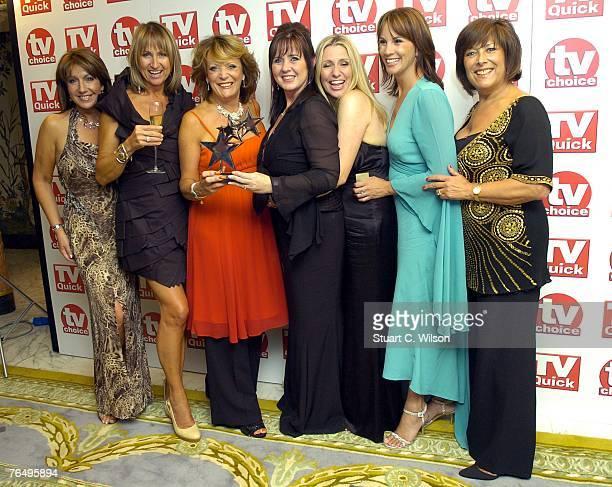 'Loose Women' Presenters Jane McDonald, Carol McGriffin, Sherrie Hewson, Coleen Nolan, Jackie Brambles, Andrea McLean and Lynda Bellingham receive...