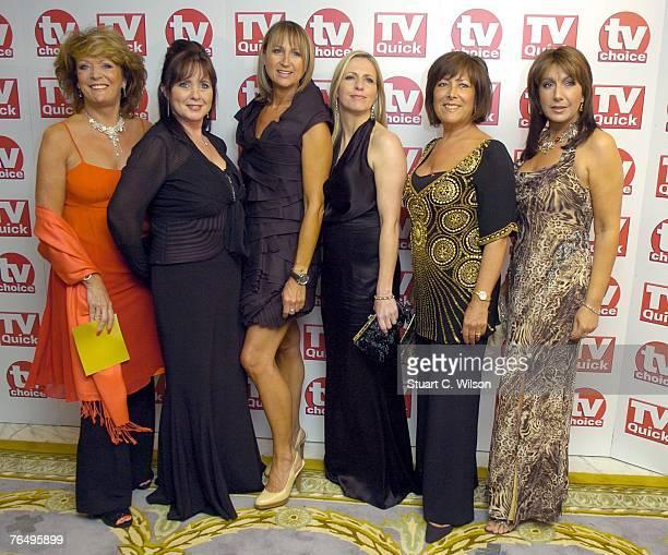 'Loose Women' Presenters Sherrie Hewson, Coleen Nolan, Carol McGriffin, Jackie Brambles, Lynda Bellingham and Jane McDonld arrive for the TV Quick &...