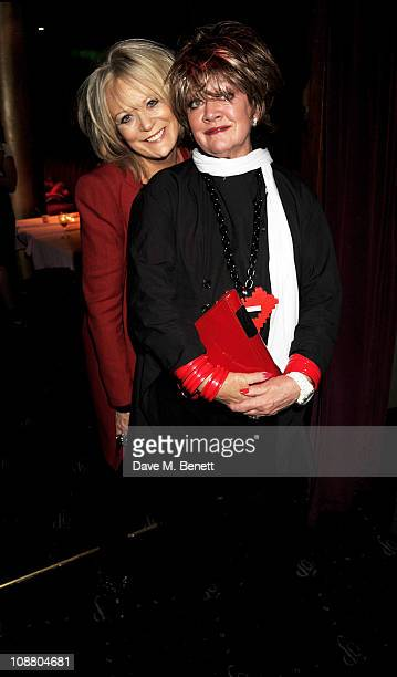 Loose Women's Sherrie Hewson and Amanda Barrie attend an after party for Leslie Jordan's 'My Trip Down The Pink Carpet' at The Cafe de Paris on...