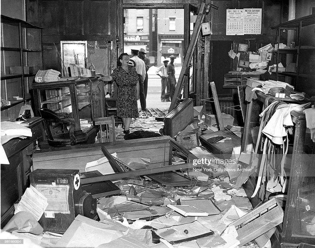 Looting shown inside this store on August 2, 1943 in Harlem, New York.