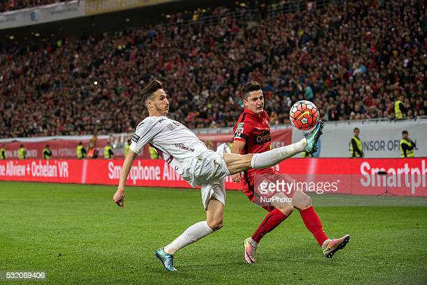 Lopes Tiago Oliveira of CFR ClujNapoca and Steliano Filip of Dinamo Bucharest during Romanian Football Cup Final between FC Dinamo Bucharest and FC...