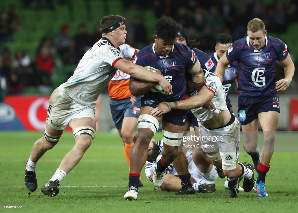 Super Rugby Rd 12 - Rebels v Crusaders : News Photo