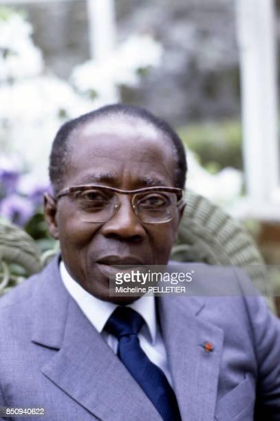 Léopold Sédar Senghor, homme d'état sénégalais et écrivain, le 3 mai 1983 à Paris, France.