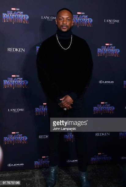 LoQuan Smith attends Marvel Studios Presents Black Panther Welcome To Wakanda during February 2018 New York Fashion Week The Shows at Industria...